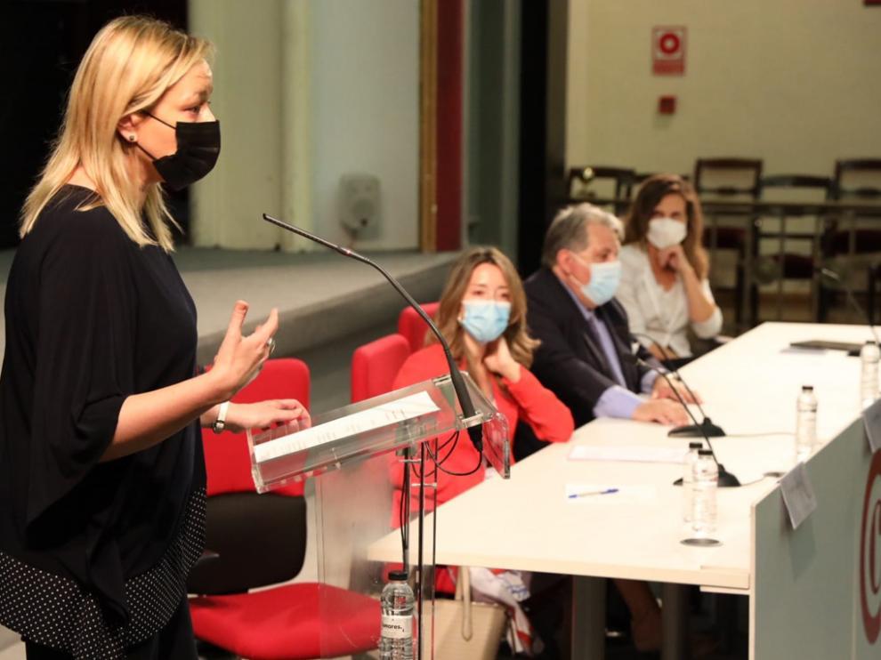 Gastón en la inauguración de la jornada sobre instrumentos financiaros para la internacionalización.