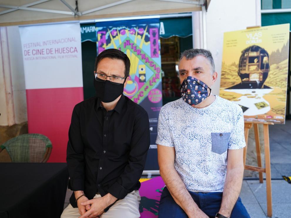 Germán Roda y Manuel Vilas, en La Confianza.