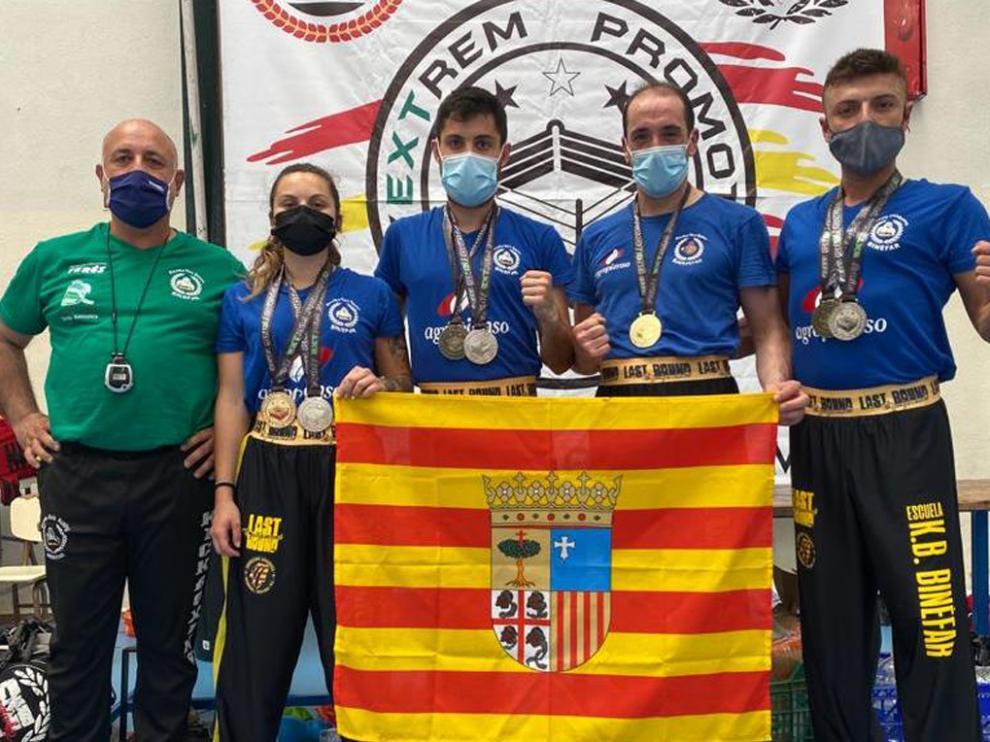Representación altoaragonesa en el torneo celebrado en Badajoz el sábado.