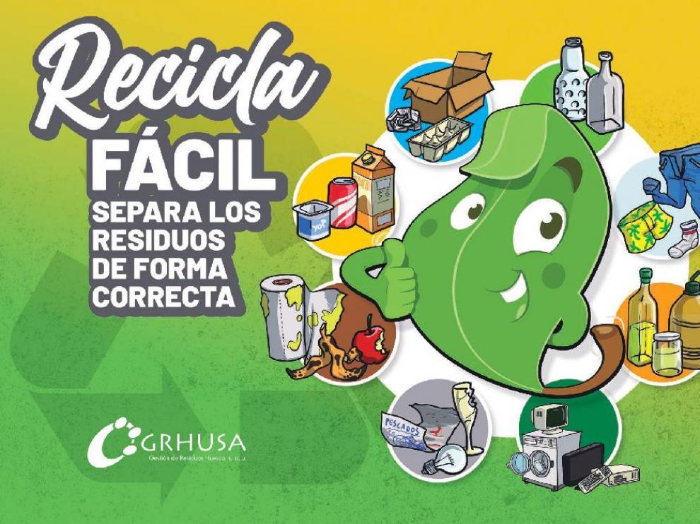 Grhusa edita una nueva guía para fomentar el reciclaje en Huesca