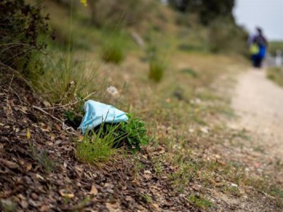 La basuraleza afecta a la flora y fauna de Aragón