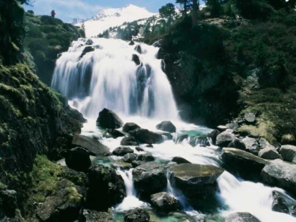 Imagen de la Cascada de Aigualluts (PN Posets-Maladeta).