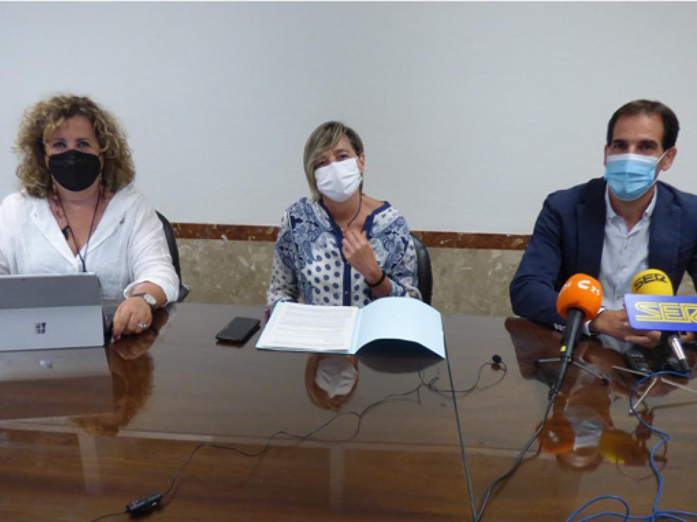 María Morera, Eva Fortea y Daniel Gracia