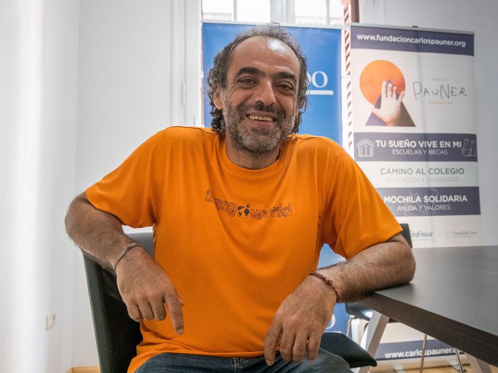 Carlos Pauner, durante la presentación de su nuevo proyecto