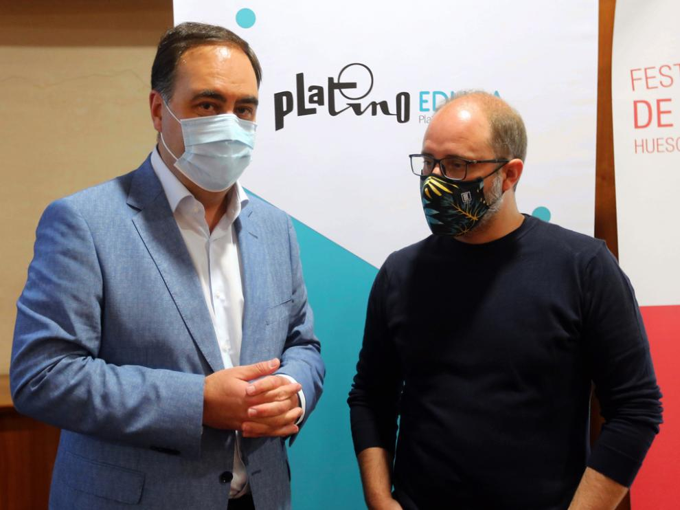 Octavio Dapena y Rubén Moreno, ayer en la DPH.