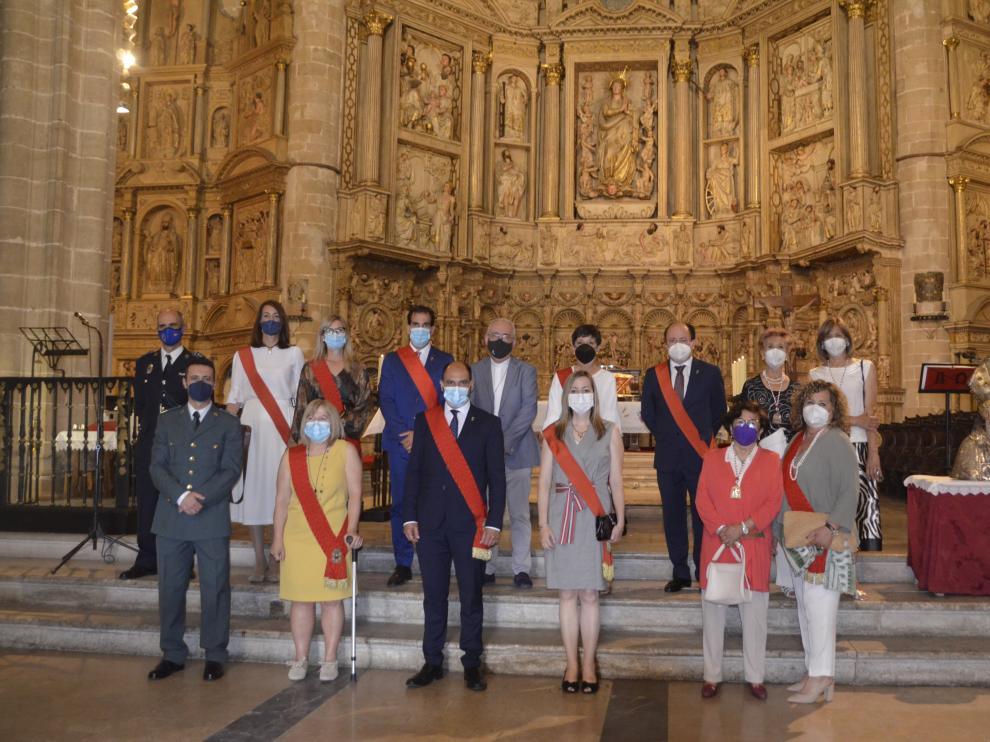 Las principales autoridades han acudido a la misa en honor a San Ramón.