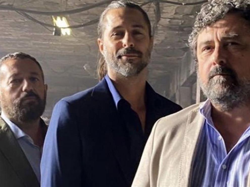 De izquierda a derecha, Pepón Nieto, Hugo Silva y Pepe Tous.