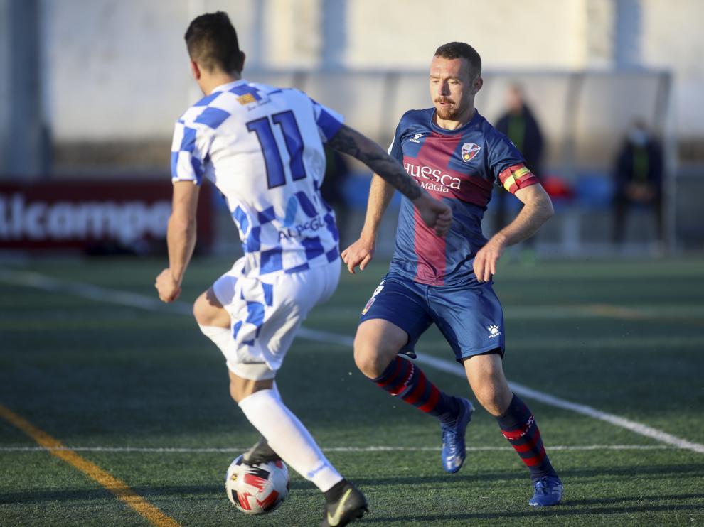 Fernando Arnedillo en el encuentro contra el Tamarite en esta última temporada.