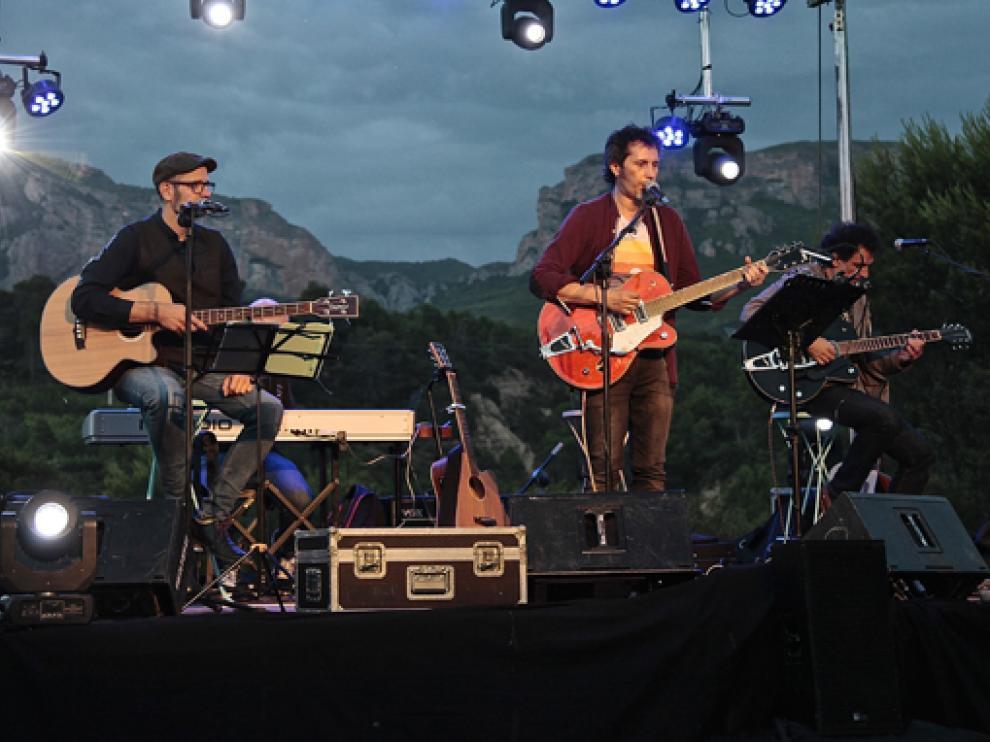 Imagen del concierto de David Angulo en el Festival Manhattan, en Murillo de Gállego.