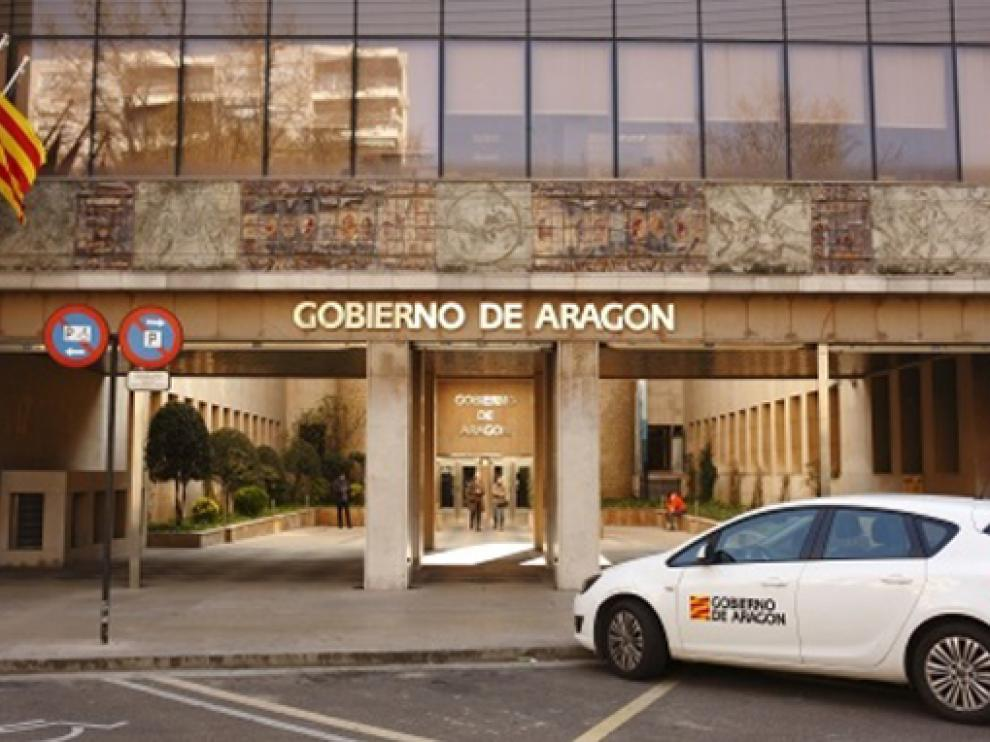 Edificio Pignatelli, centro principal de trabajo de los empleados públicos de Aragón
