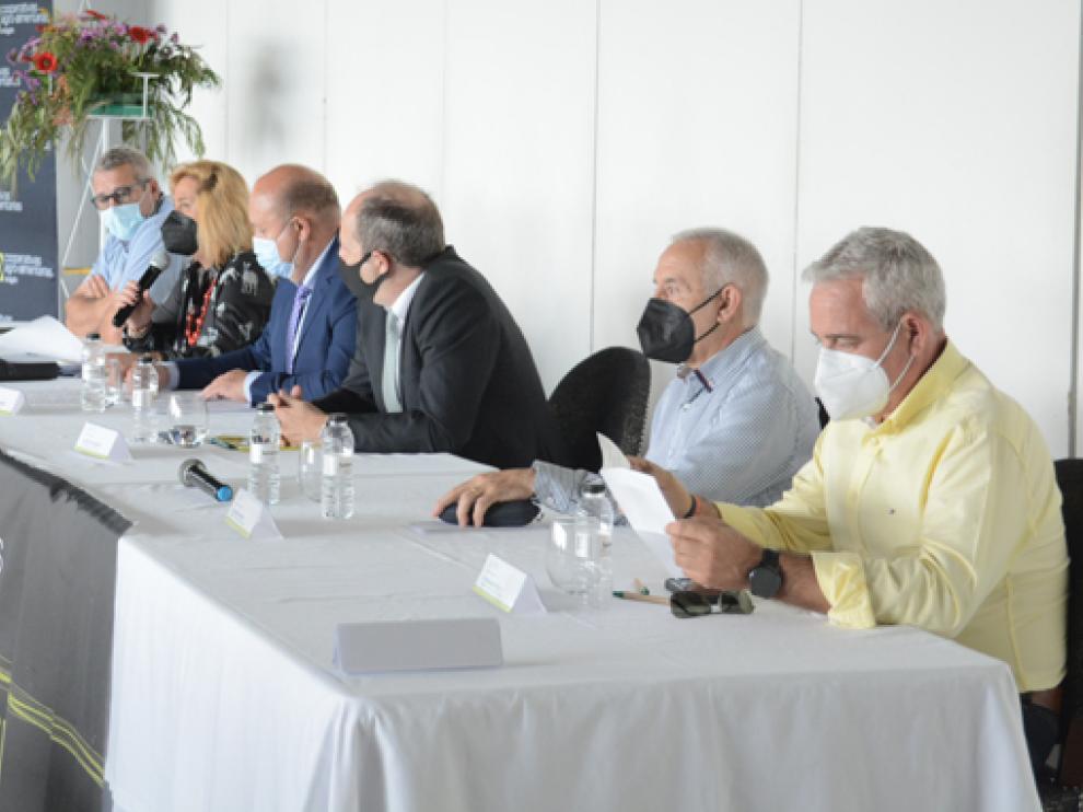 Miembros de la entidad Cooperativas Agroalimentarias de Aragón durante la asamblea general.