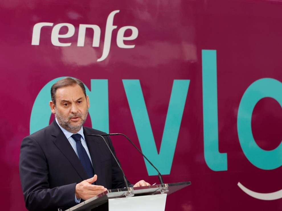 El ministro Ábalos en la presentación de Avlo en la estación de Atocha este miércoles