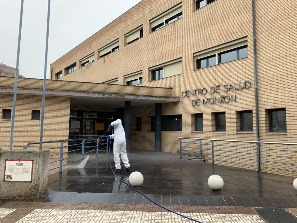 Foto de archivo del Centro de Salud de Monzón.