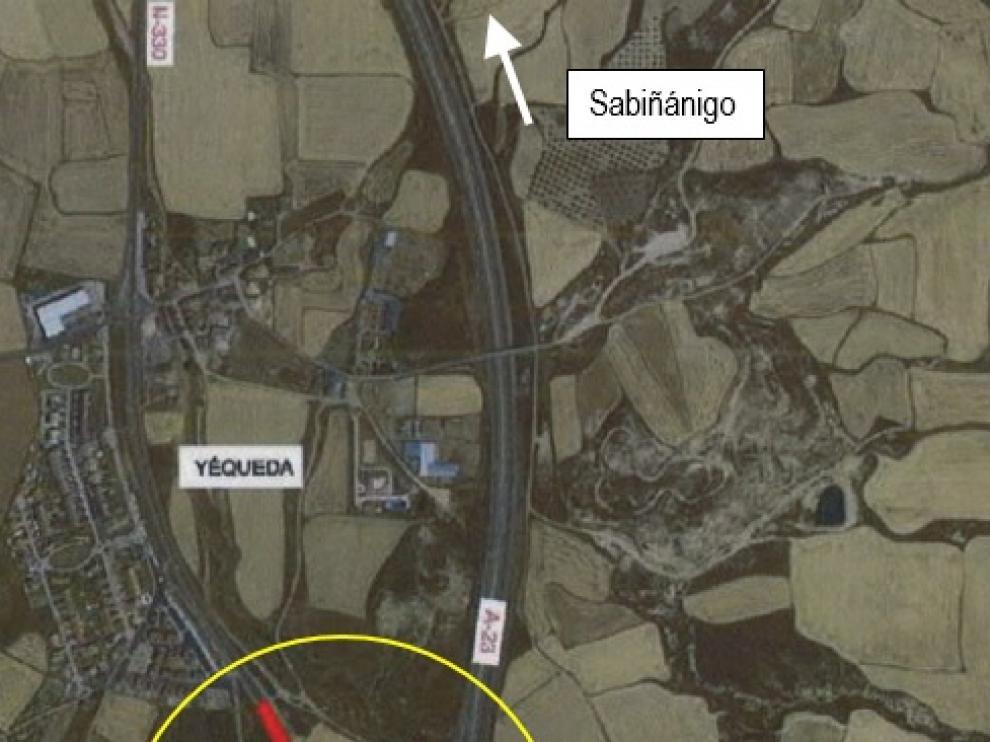 Imagen del ámbito de actuación facilitada por Subdelegación.