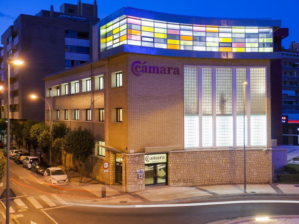 Sede de la Cámara de Comercio en Huesca.