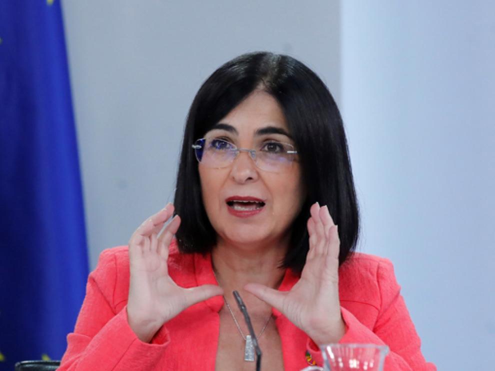 Carolina Darias, en la rueda de prensa tras la reunión del Consejo de Ministros este jueves