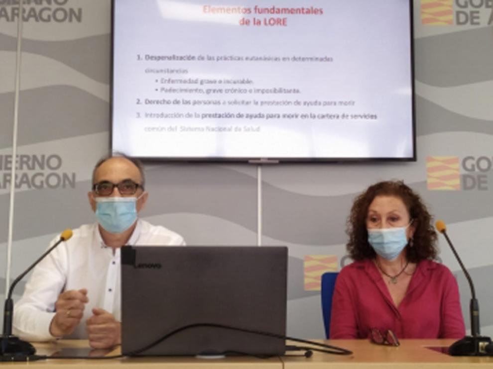 Coll y Revilla, en la rueda de prensa sobre la eutanasia.