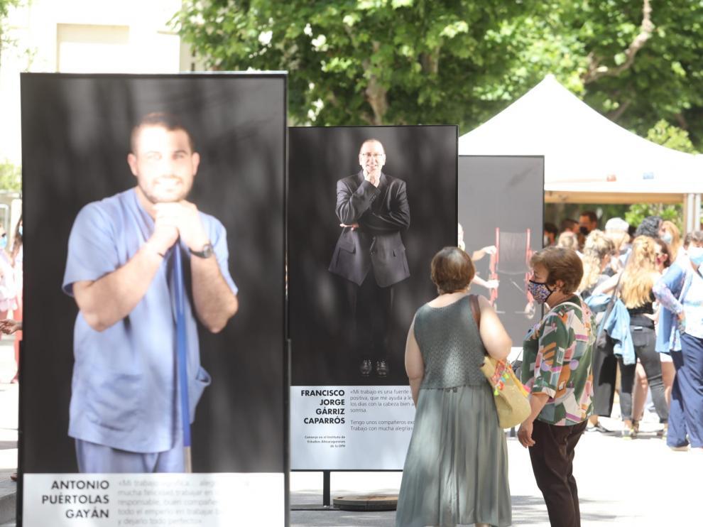 """Exposición """"En Activo"""", ubicada en la plaza de Navarra"""