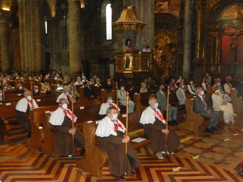La misa del día de Santa Orosia celebrada el día 25 de junio de 2020 en la Catedral