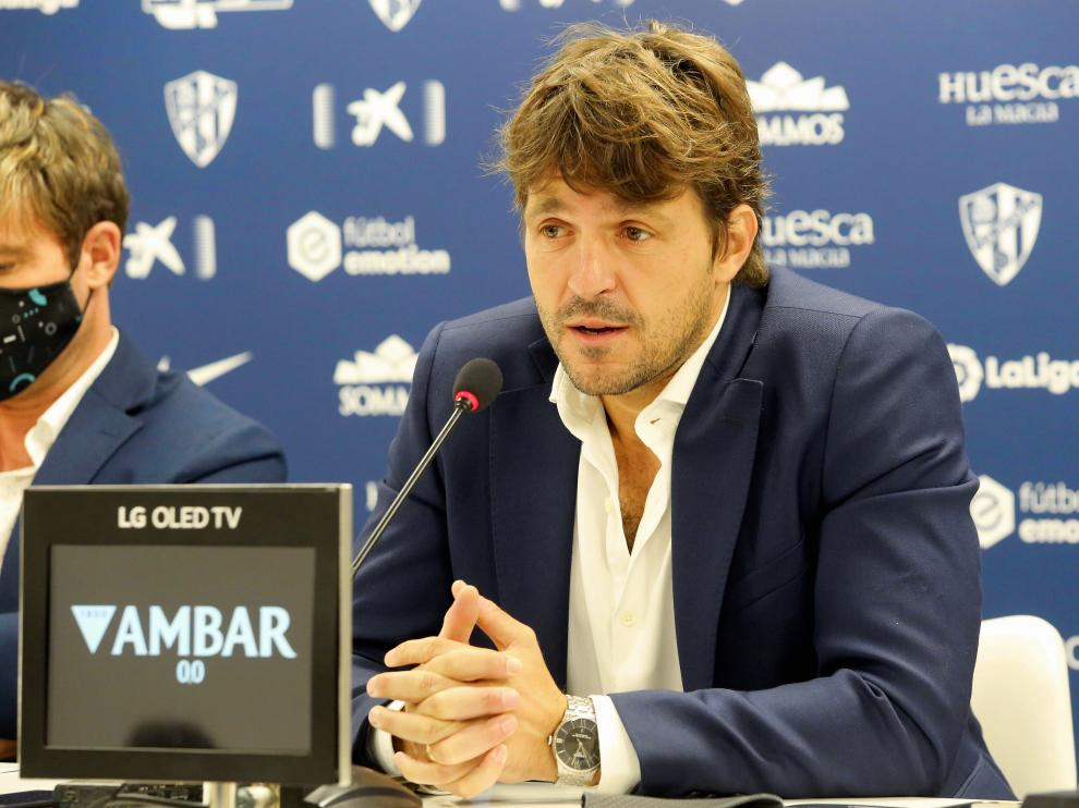 Josete Ortas, director general del Huesca.