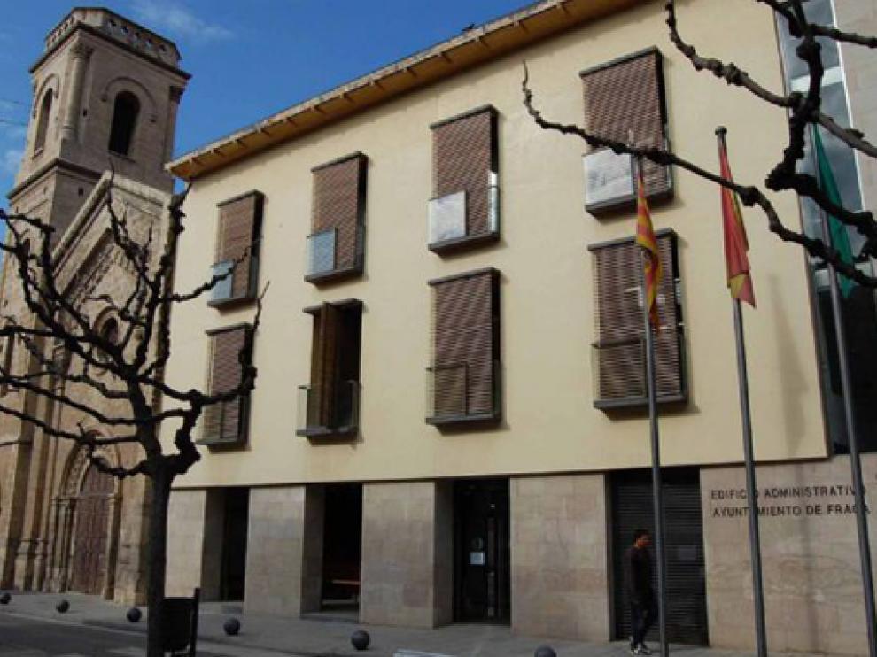 Edificio administrativo del Ayuntamiento de Fraga