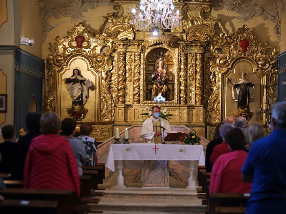 Imagen de la liturgia en el Santuario Nuestra Señora de Cillas este jueves