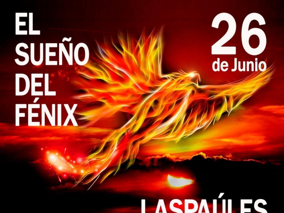 Cartel promocional de la feria El Sueño del Fénix de Laspaúles