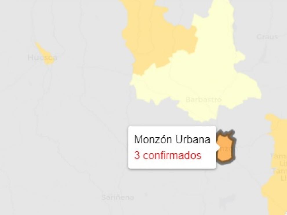 Doce casos más de covid en la provincia de Huesca.