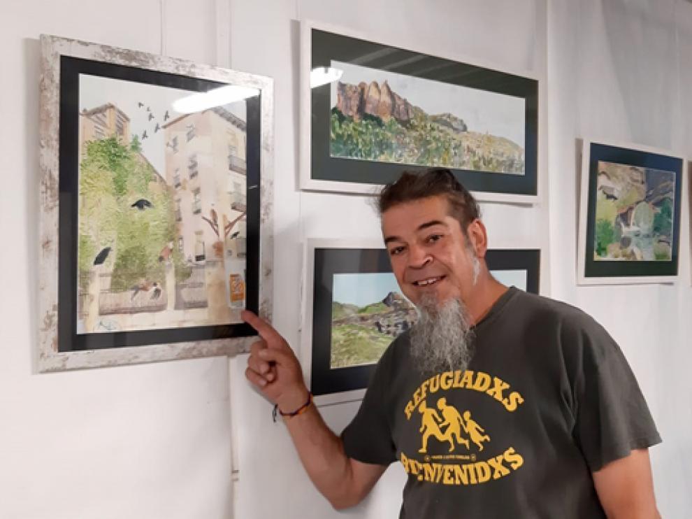 Emilio Ýñigo de Los Ríos ha colgado en el Jai Alai  veintisiete obras.