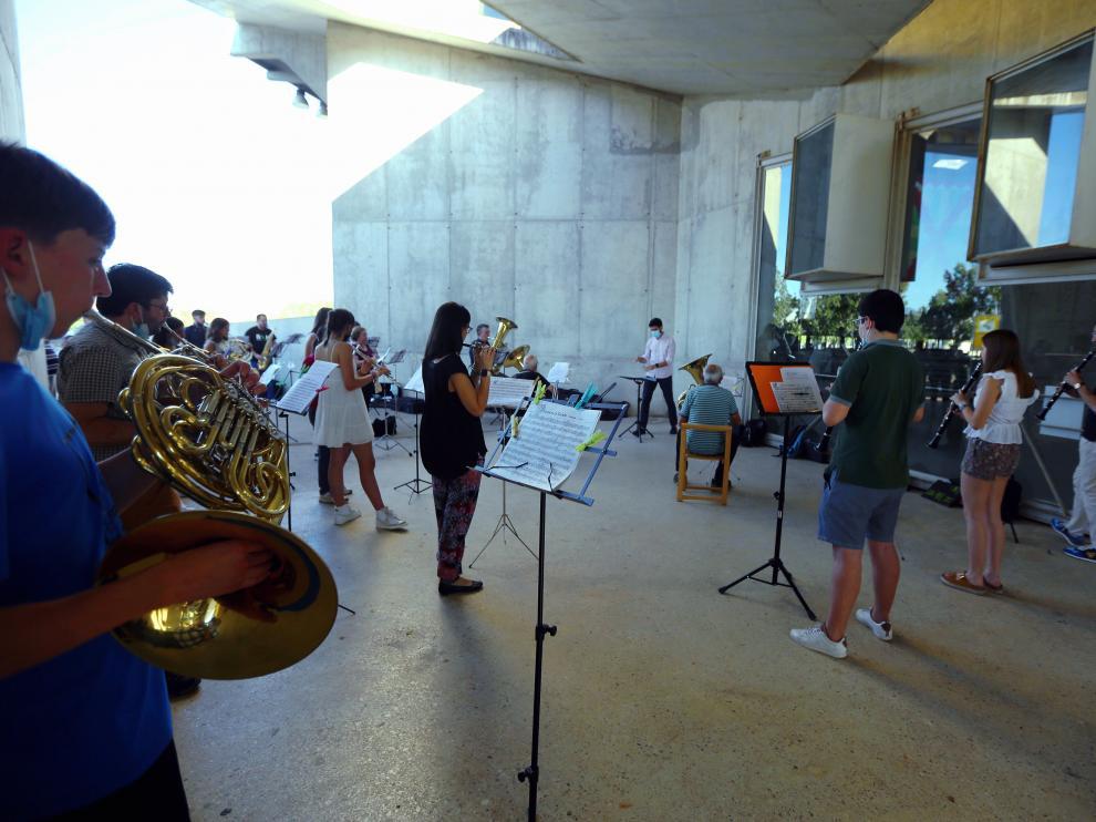 La banda de música de Huesca no está de acuerdo con la decisión del ayuntamiento