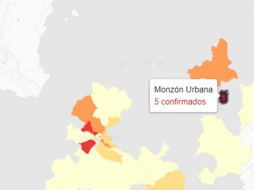 La zona de salud de Monzón Urbana ha registrado el peor dato de Aragón.