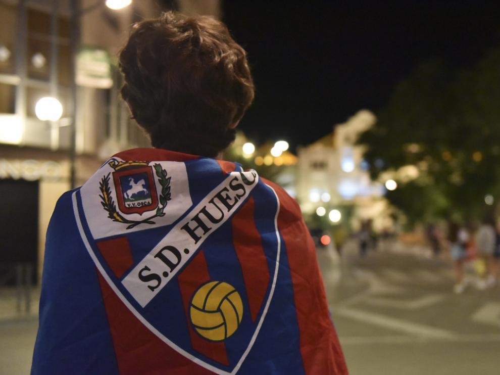 Celebración del ascenso a Primera División la pasada temporada.