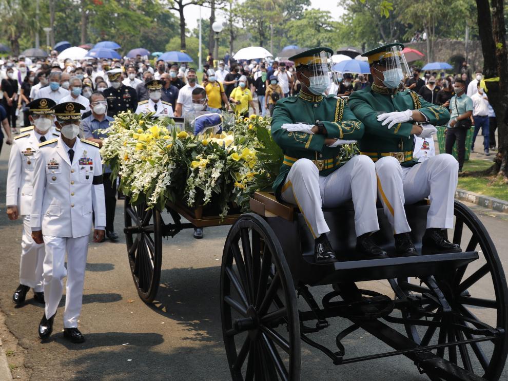 Funeral en Filipinas del expresidente Benigno Aquino.
