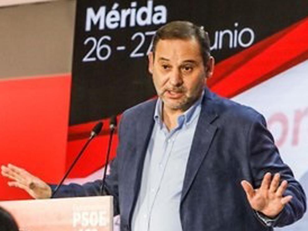 José Luis Ábalos, en un acto del PSOE en Mérida.