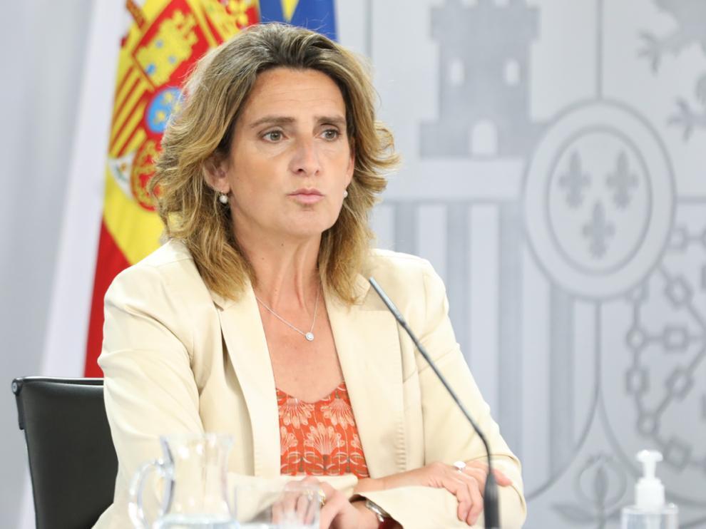La vicepresidenta cuarta del Gobierno y ministra de Transición Ecológica y Reto Demográfico, Teresa Ribera