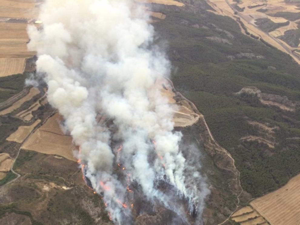 Incendio en Castillonroy y Alfarrás