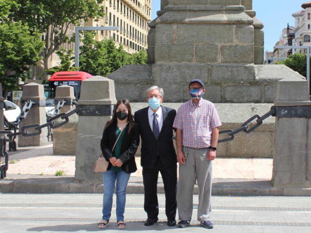 El Justicia de Aragón con los reporteros de Cadis