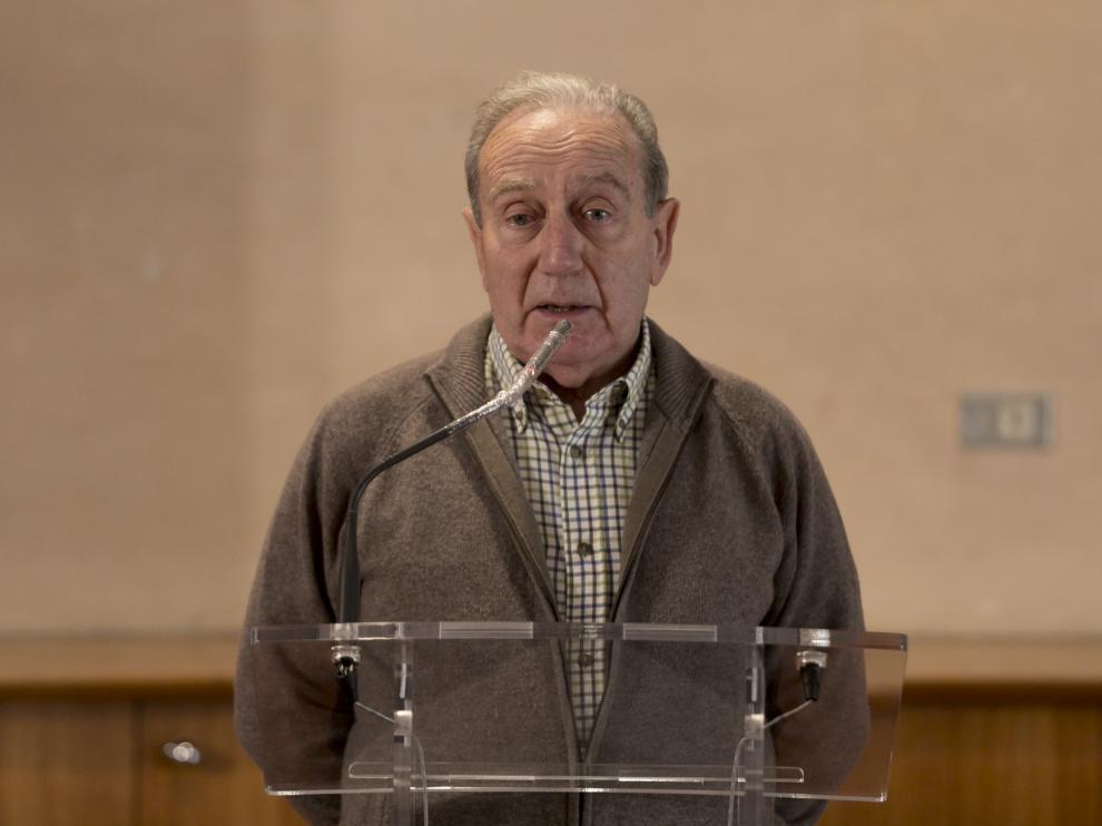 Federico Fillat, durante la Mesa Pirenaica de Gestión del Territorio