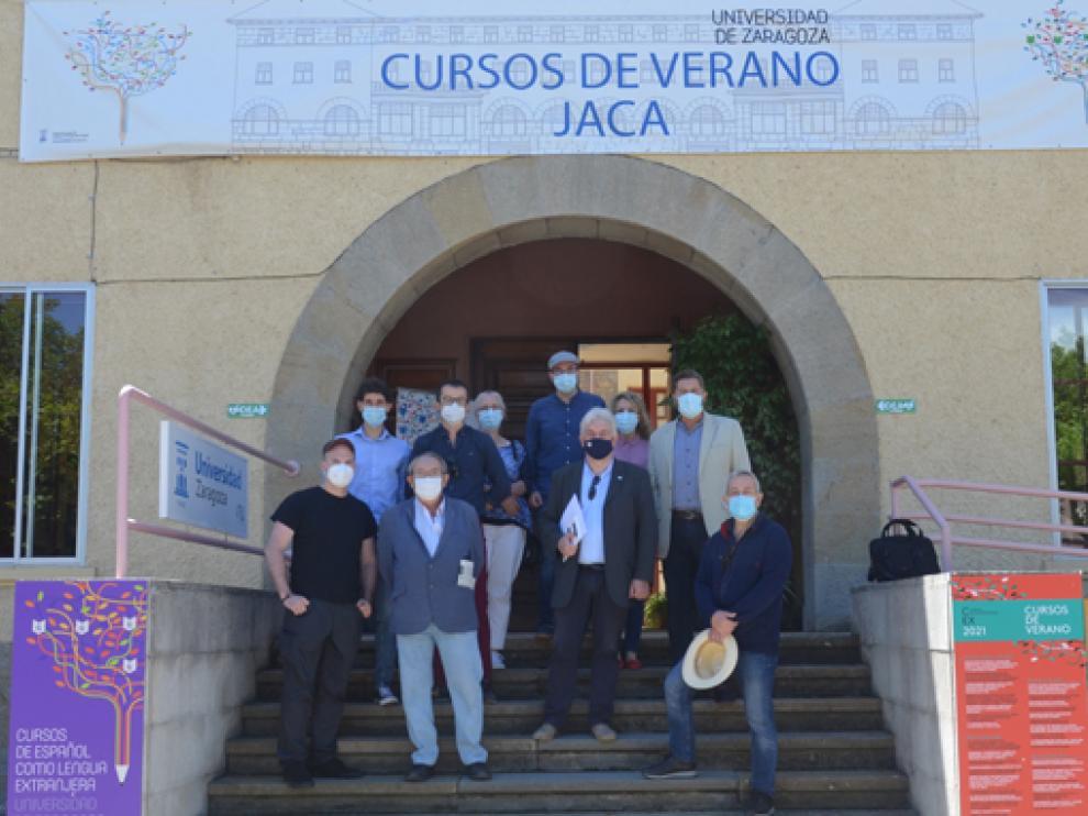 Participantes del Congreso de Historia Contemporánea, en Jaca.