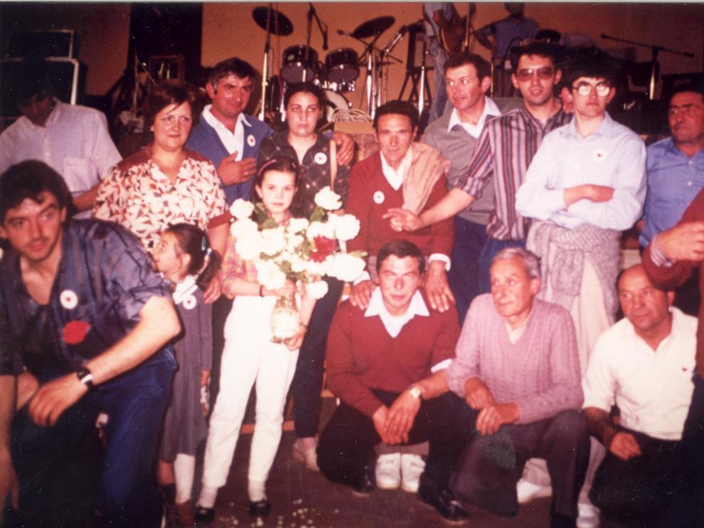 Imagen de archivo de la caravana de mujeres de Plan de 1985.