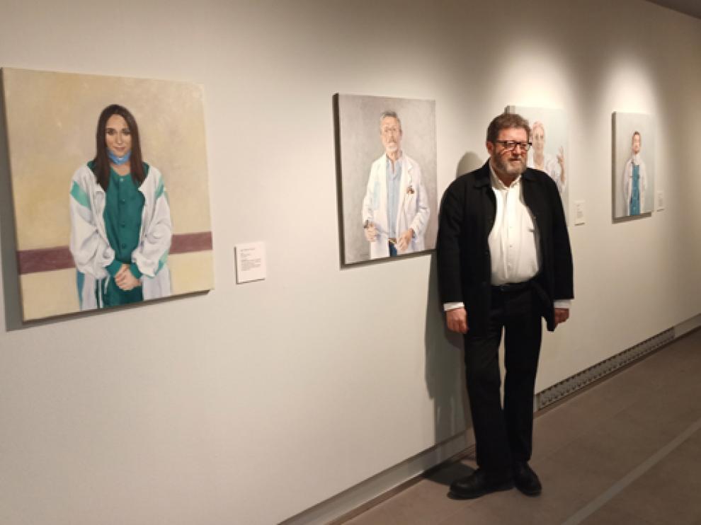 Pepe Cerdá en una exposición realizada este año en el Museo Goya de Zaragoza.