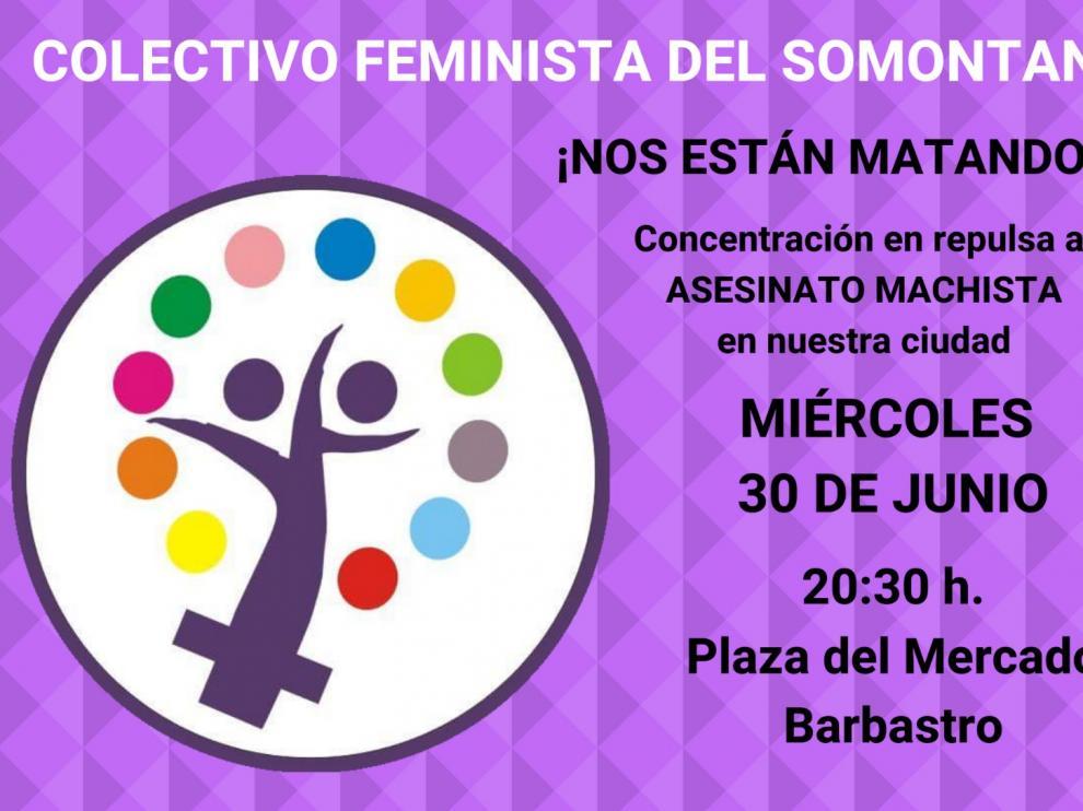 El Colectivo Feminista del Somontano ha convocado una protesta.