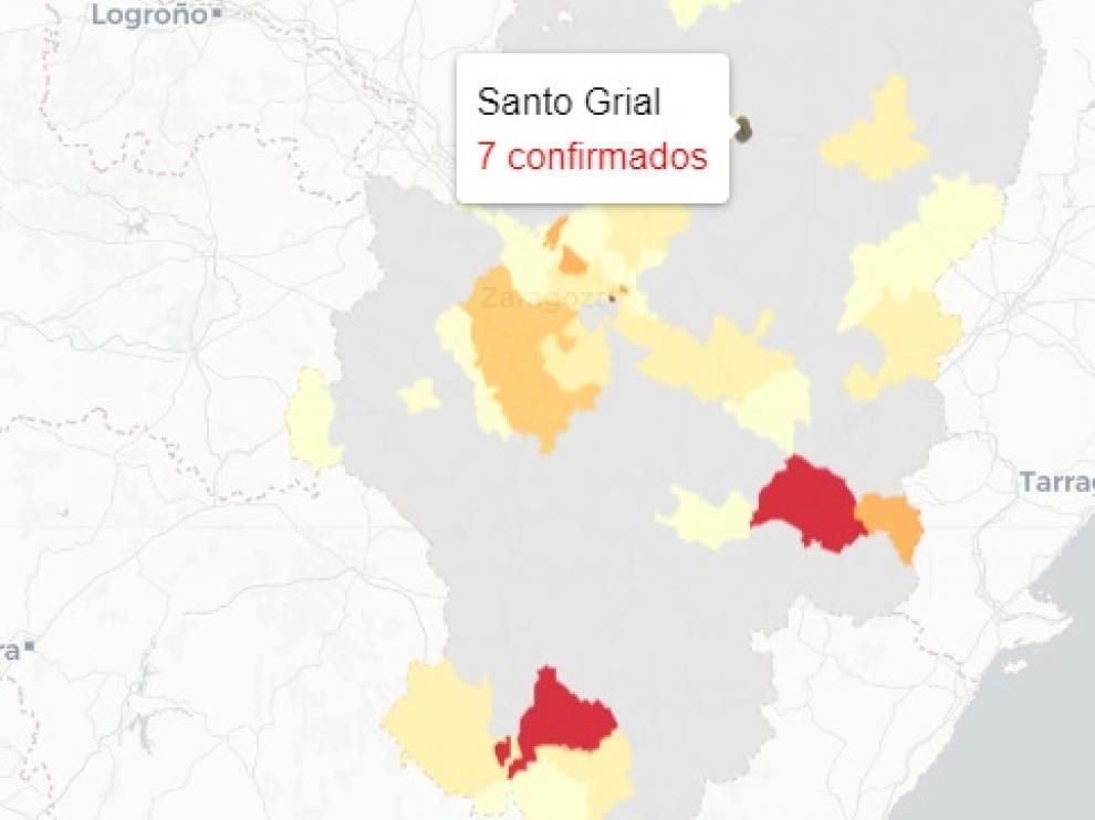 Los casos comunicados este miércoles se concentran en la ciudad de Huesca en su mayoría