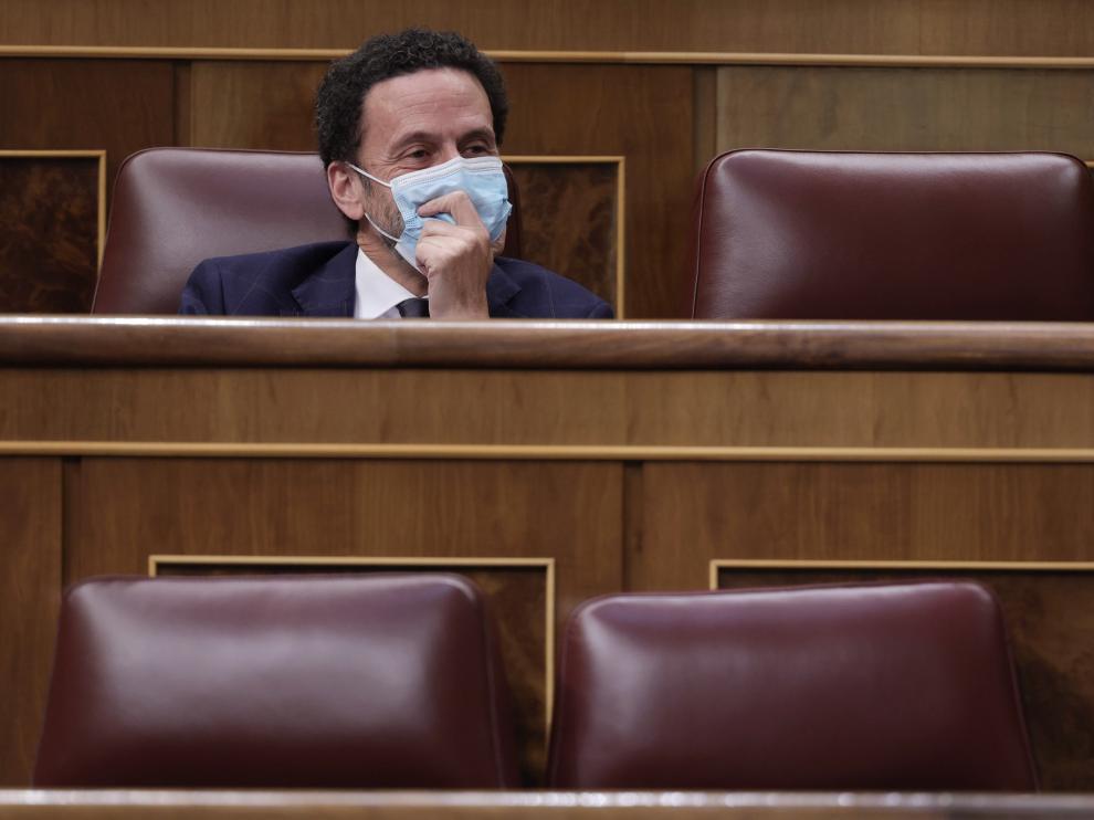 Edmundo Val, en la sesión del Congreso de los Diputados, este miércoles