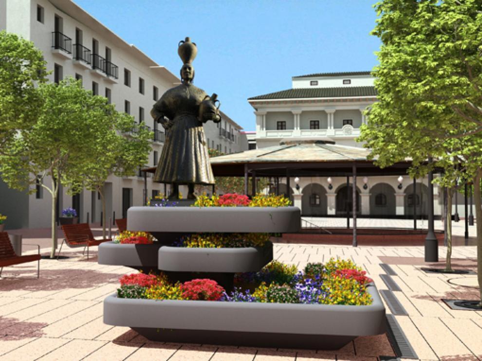 Imagen virtual de cómo quedaría la plaza