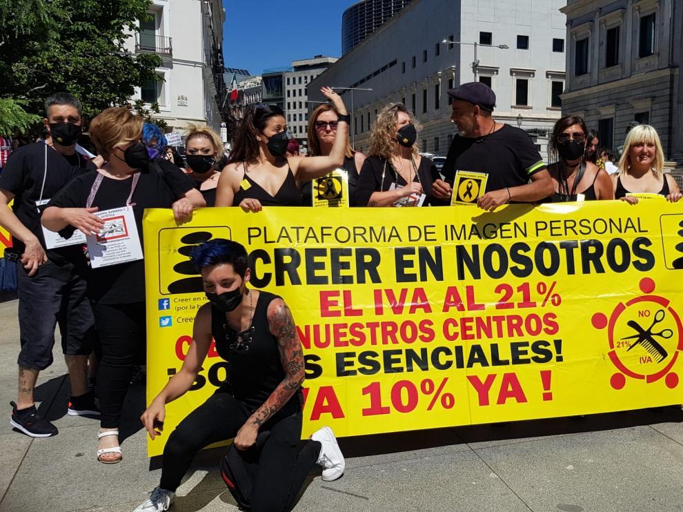 Representantes del sector en Huesca estuvieron presentes en la manifestación de Madrid