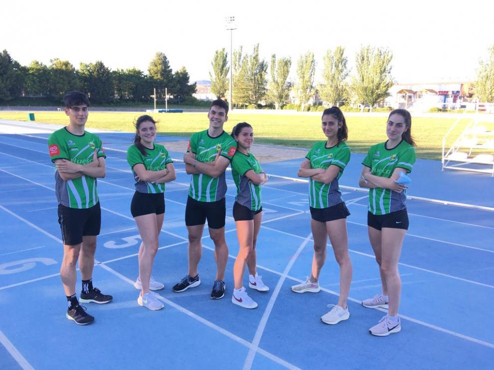 Varios de los atletas de Intec-Zoiti en el Campeonato de España.