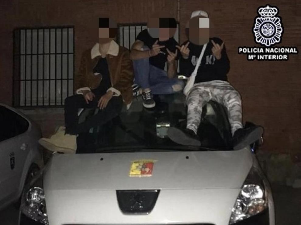 Imagen de los detenidos.
