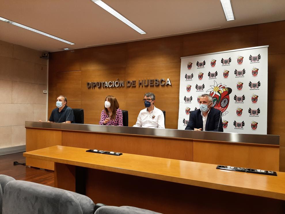 Marquina, Fernández, Ascaso y De Diego, durante la presentación.