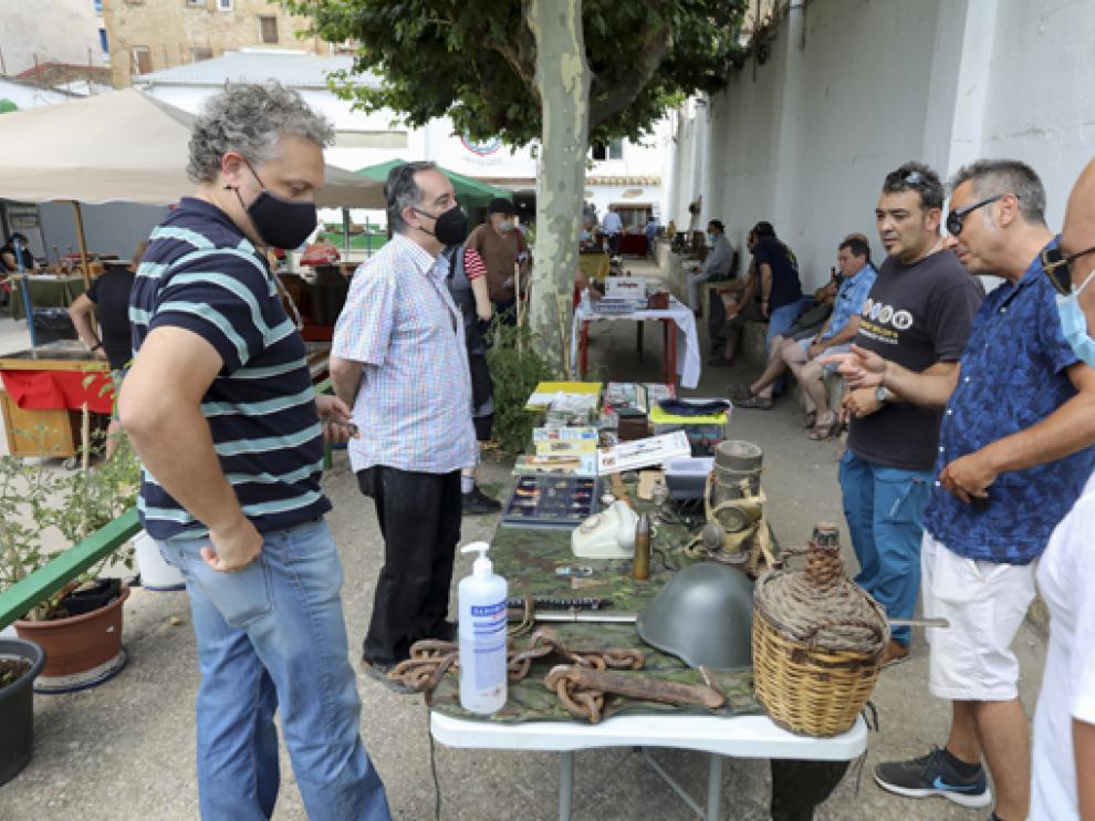 Imagen del mercadillo instalado en el Jai-Alai